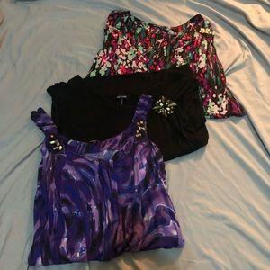 👚 Lot of 3 - Daisy Fuentes Dressy Tops